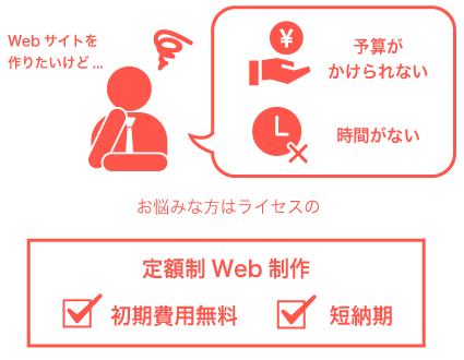 定額制Web制作が選ばれる理由。